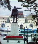 Lenin grüßt noch immer die Stadt in Fernost, Wladiwostok