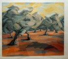 Lutz Jungrichter, Olivenbäume am Abend
