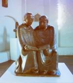 Ernst Barlach: Lesende Klosterschüler in der Gertrudenkapelle in Güstrow