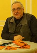 Uwe Jordan liest beim Hoyerswerdaer Kunstverein, 2017.