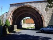 Erhaltenes Eingangsportal am Kloster Altzella