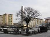 Hochhäuser in Hoyerswerda, Bautzener Allee, erste Hochhäuser in Plattenbauweise