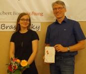 Emma Braslavsky und Mirko Schwanitz lesen im Rahmen der GrenzgängeR-Projekte der Robert-Bosch-Stiftung beim Hoyerswerdaer Kunstverein