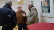 """Lutz Jungrichter (Mitte) zur Eröffnung seiner  seiner Ausstellung """"Italienreise"""""""