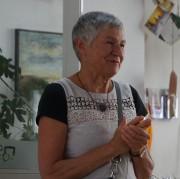 Barbara Seidl-Lampa zur Vernissage im Seenlandklinikum Hoyerswerda