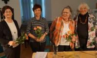 Matinee zu Luther im Spiegel der Literatur. Es lasen Helene Schmidt, Barbara Kegel, Angela Potowski und Christine Neudeck, v.r.