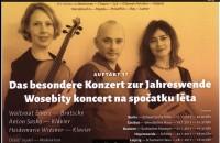 Plakat zum Konzert mit Heidemarie Wiesner, rechts, Waltraud Elvers und Anton Saskov