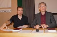 Robert Prosser und Mirko Schwanitz, von links.