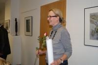 Gudrun Otto eröffnet ihr neues Atelier, 2012.