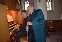 Giora Feidman r. und Matthias Eisenberg in der Johanneskirche Hoyerswerda