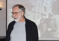 Erich Busse beim Hoyerswerdaer Kunstverein. Januar 2019.
