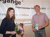 Mirko Schwanitz begleitet bei den GrenzgängeR-Gesprächen der Robert-Bosch Stiftung die Autorin Olga Grjasnowa