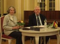 Ingrid Tempel und Heinz-Dieter Tempel mit einem Vortrag über George Bähr beim Hoyerswerdaer Kunstverein 2016
