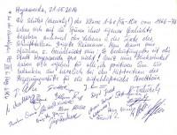 Eintrag der ehemaligen Schüler ins Gästebuch der Reimann-Begegnungsstätte