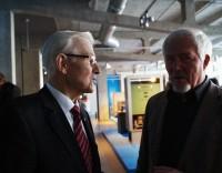 Einweihung des neuen Zuse -Computer-Museums am 28. Januar 2017 in Hoyerswerda, links der wichtigste Impulsgeber, Horst-Dieter-Brähmig
