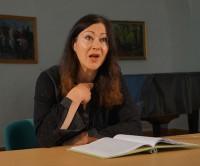 Ines Burdow liest beim Hoyerswerdaer Kunstverein 2016