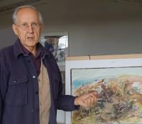 Harald Metzkes in seinem Atelier in Atlandsberg