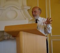Professor Dr. Peter Stosiek 2013 beim Hoyerswerdaer Kunstverein