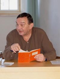 Rainer Gruß liest beim Hoyerswerdaer Kunstverein, 2018