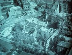 Das Areal des Taschenbergpalais vor dem Wiederaufbau 1989