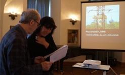 Nancy Aris und Martin Schmidt im Schloss Hoyerswerda zum Vortrag von NancyAris 2016