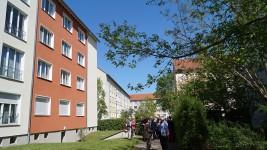 Liselotte-Herrmann-Straße 20 in Hoyerswerda, Wohnung von Brigitte Reimann in der obersten Etage