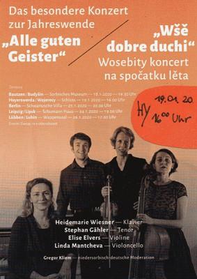Einladung zum Konzert mit Heidemarie Wiesner