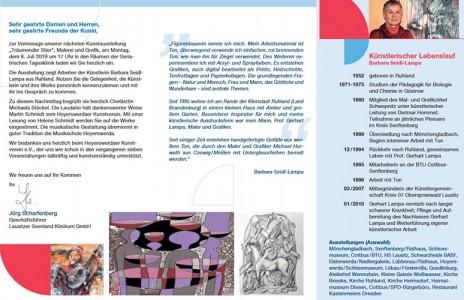 Flyer zur Ausstellung Barbara Seidl-Lampa