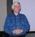 Bernd Cäsar Langnickel 2020 beim Hoyerswerdaer Kunstverein