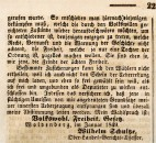 1848 Revolution im Deutschen Bund. Im Hoyerswerdaer Wochenblatt vom 6. Januar 1849 stellt sich Ober-Landes-Gerichts-Assessor Wilhelm Schultze zur Wahl als Kandidat der Zweiten Kammer vor.