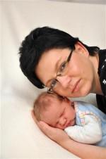 Doreen Hirche und Sohn Paul