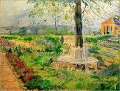 Max Slevogt, Garten in Neu-Kladow, an der Havel bei Berlin