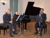 Das Bärmann-Trio, Bassklarinettist Ulrich Büsing, Pianist John-Noel Attard, Klarinettist Sven van der Kuip, von links.