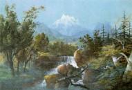 Ramsau mit Watzmann, Gemälde von Adalbert Stifter