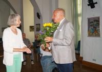 Rudolf Renner ist häufiger Gast beim Hoyerswerdaer Kunstverein, hier im Jahr 2020.