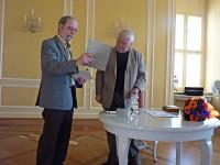 Martin Schmidt (links) und Dr. Wolfgang Wessig in Hoyerswerda