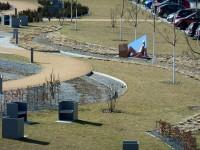 Stanort des Denkzeichens für Brigitte Reimann im neuen Zentralpark von Hoyerswerda
