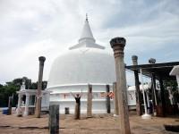Die Stupa eines Buddha-Tempels in Sri Lanka