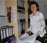 Sabine Wolf besucht die Brigitte-Reimann-Begegnungsstätte Hoyerswerda, 2017.