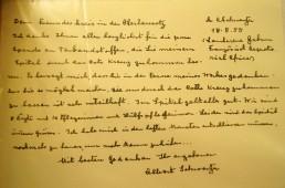 Brief von Albert Schweitzer an den Freundeskreis in der Oberlausitz