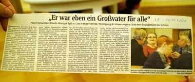 Bericht vom Jahr 2000 in der Sächsischen Zeitung